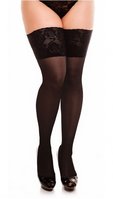 50111 - Deluxe 20 - Black - Thigh highs