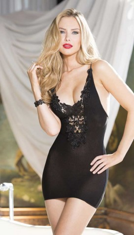 STRETCH KNIT CHEMISE