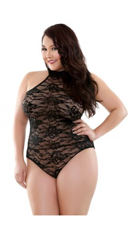 Celeste High Neck Lace Teddy