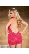 Stretch Lace CHEMISE with halter neck