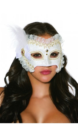 MASK BROCADE WITH GOLD TRIM