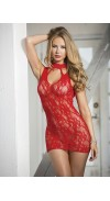 CHEMISE STRETCH LACE WITH 3 KEYHOLE