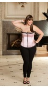 SATIN AND SPANDEX  CORSET TOP