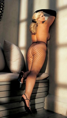 PLUS SIZE BIG HOLE FISHNET PANTYHOSE