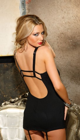 PARTY LIKE A ROCK STAR IN OUR HEAVY PONTE DE ROMA COTTON SPANDEX GARTERED CHEMISE