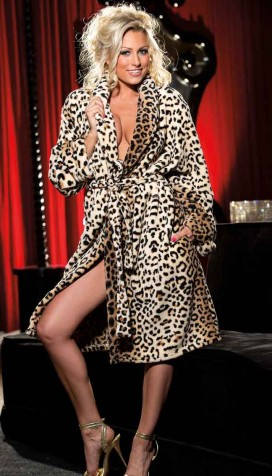 IRRESISTIBLY SOFT AND FLUFFY LUXURIOUS LEOPARD PRINT ROBE